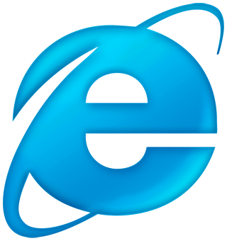 internet explorer blue logo